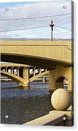 Acrylic Print featuring the photograph Three Bridges by Phyllis Denton
