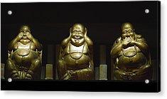 Three Buddhas Acrylic Print