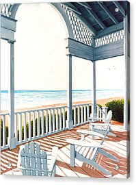 Adirondacks By The Sea - Prints From Original Oil Painting Acrylic Print