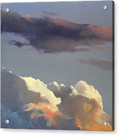 Acrylic Print featuring the painting Three Clouds Sold by Cap Pannell
