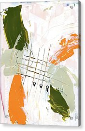 Acrylic Print featuring the painting Three Color Palette Orange 3 by Michal Mitak Mahgerefteh