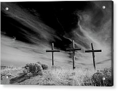 Three Crosses Acrylic Print by Carolyn Dalessandro