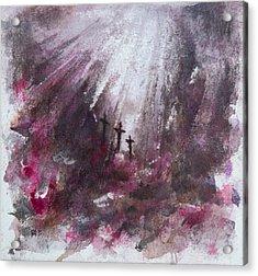 Three Crosses Acrylic Print by Rachel Christine Nowicki