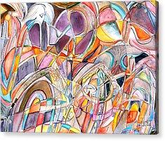 Three Doors Acrylic Print by Ed Tajchman