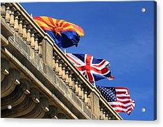 Three Flags At London Bridge Acrylic Print