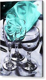 Three Glass Illusion Acrylic Print