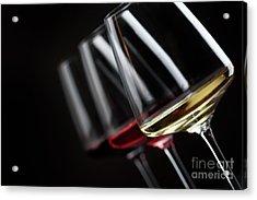 Three Glass Of Wine Acrylic Print by Jelena Jovanovic