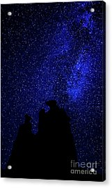 Acrylic Print featuring the photograph Three Gossips And The Milky Way - Arches National Park by Gary Whitton