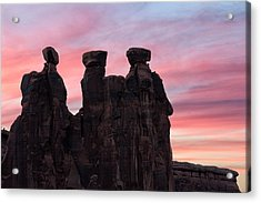 Three Gossips At Sunset Acrylic Print