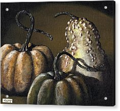 Three Gourds Acrylic Print by Adam Zebediah Joseph