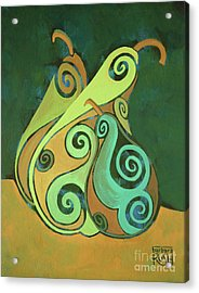 Three Groovy Little Pears Acrylic Print