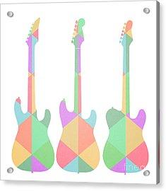 Three Guitars Triangles Acrylic Print by Edward Fielding