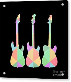 Three Guitars Triangles Tee Acrylic Print