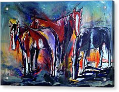 Three Horses Acrylic Print