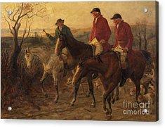 Three Jolly Huntsmen Acrylic Print by Randolph Caldecott
