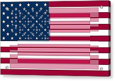 Three Layered Flag Acrylic Print