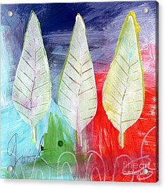 Three Leaves Of Good Acrylic Print by Linda Woods