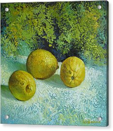 Three Lemons Acrylic Print
