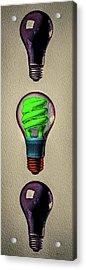 Three Light Bulbs Acrylic Print