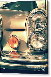 Acrylic Print featuring the photograph Three Lights - Gold by Rebecca Harman