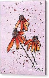 Three Little Flowers Acrylic Print