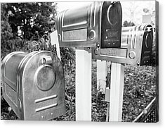 Three Mailboxes Acrylic Print