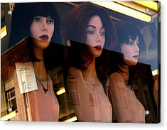 Three Mannequteers Acrylic Print by Jez C Self