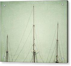 Three Masts Acrylic Print by Lisa Russo