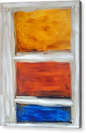Three Muses Abstract Painting Acrylic Print by Karla Beatty