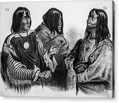 Three Native American Chiefs Acrylic Print by Douglas Barnett