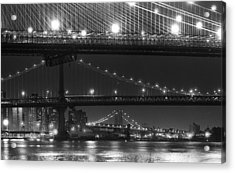 Three New York Bridges 2 Acrylic Print by Robert Ullmann