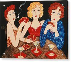 Three Of A Kind Acrylic Print by Susan Rinehart