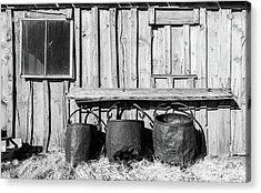Three Old Buckets Acrylic Print by Marius Sipa