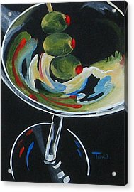Three Olive Martini V  Acrylic Print by Torrie Smiley