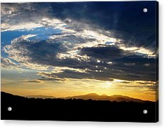 Three Peak Sunset Swirl Skyscape Acrylic Print