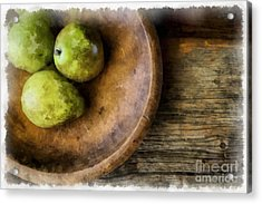 Three Pear Still Life Acrylic Print by Edward Fielding