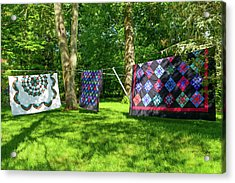 Three Quilts In The Breeze Acrylic Print