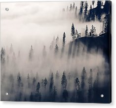 Three Ridges Fog Acrylic Print