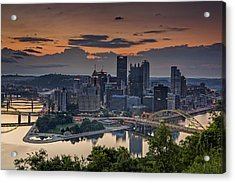 Three Rivers Sunrise Acrylic Print