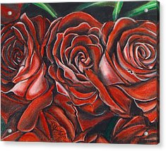 Three Rose Acrylic Print