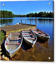 Three Rowboats Acrylic Print by David Patterson