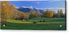 Three Seasons Mt. Mansfield Vermont Acrylic Print by George Robinson