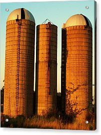 Three Silos At Daybreak Acrylic Print