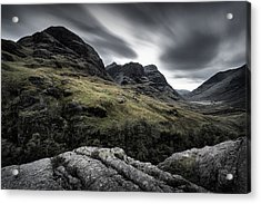 Three Sisters Acrylic Print by Dave Bowman