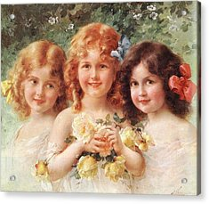 Three Sisters Acrylic Print by Emile Vernon