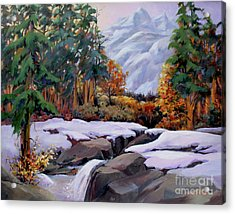 Three Sisters Near Banff Acrylic Print by Marta Styk