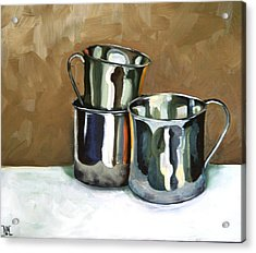 Three Sterling Cups Acrylic Print by Amy Higgins