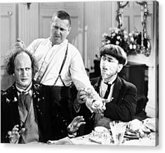 Three Stooges: Film Still Acrylic Print by Granger