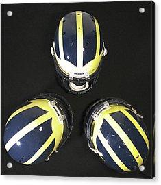 Three Striped Wolverine Helmets Acrylic Print