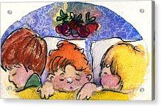 Three Sugar Plum Dreamers Acrylic Print by Mindy Newman